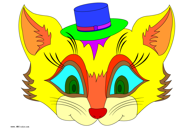 Yellow cat clipart image royalty free download cat mask raster clipart image royalty free download
