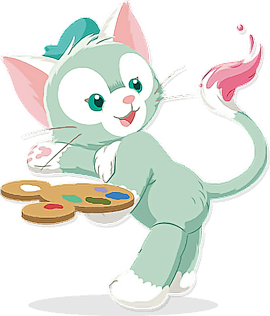 Cat meowing clipart clip freeuse library cute Gelatoni cat meow duffy disney drawing colorful... clip freeuse library