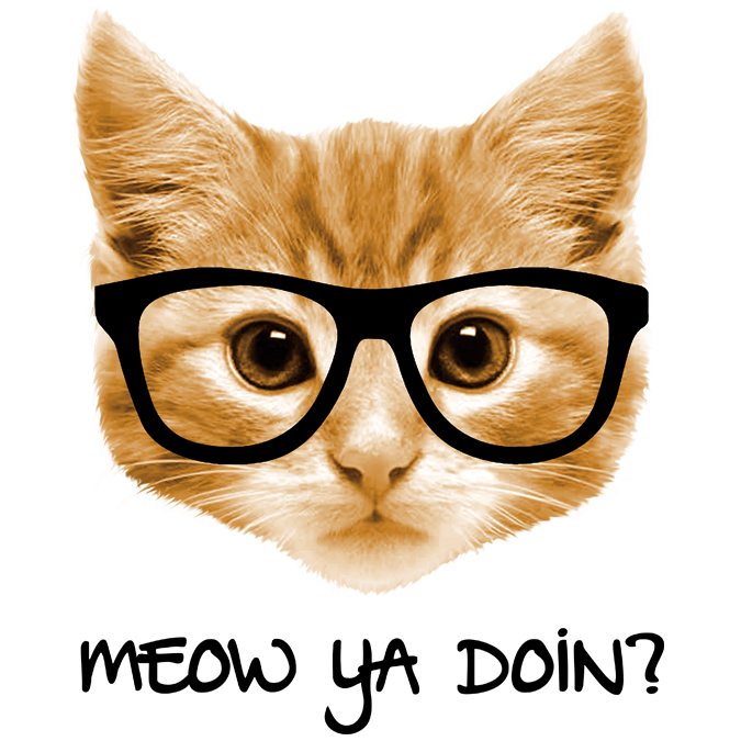 Cat meowing clipart clip art freeuse MEOW YA DOIN? CAT IN GLASSES | The Wild Side clip art freeuse