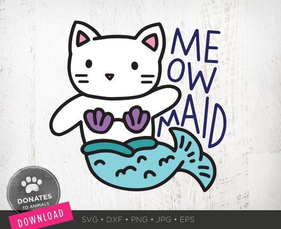 Cat mermaid clipart png transparent download Cat Mermaid SVG | Cute Mermaid Clipart | Kids SVG for Girls Shirt ... png transparent download