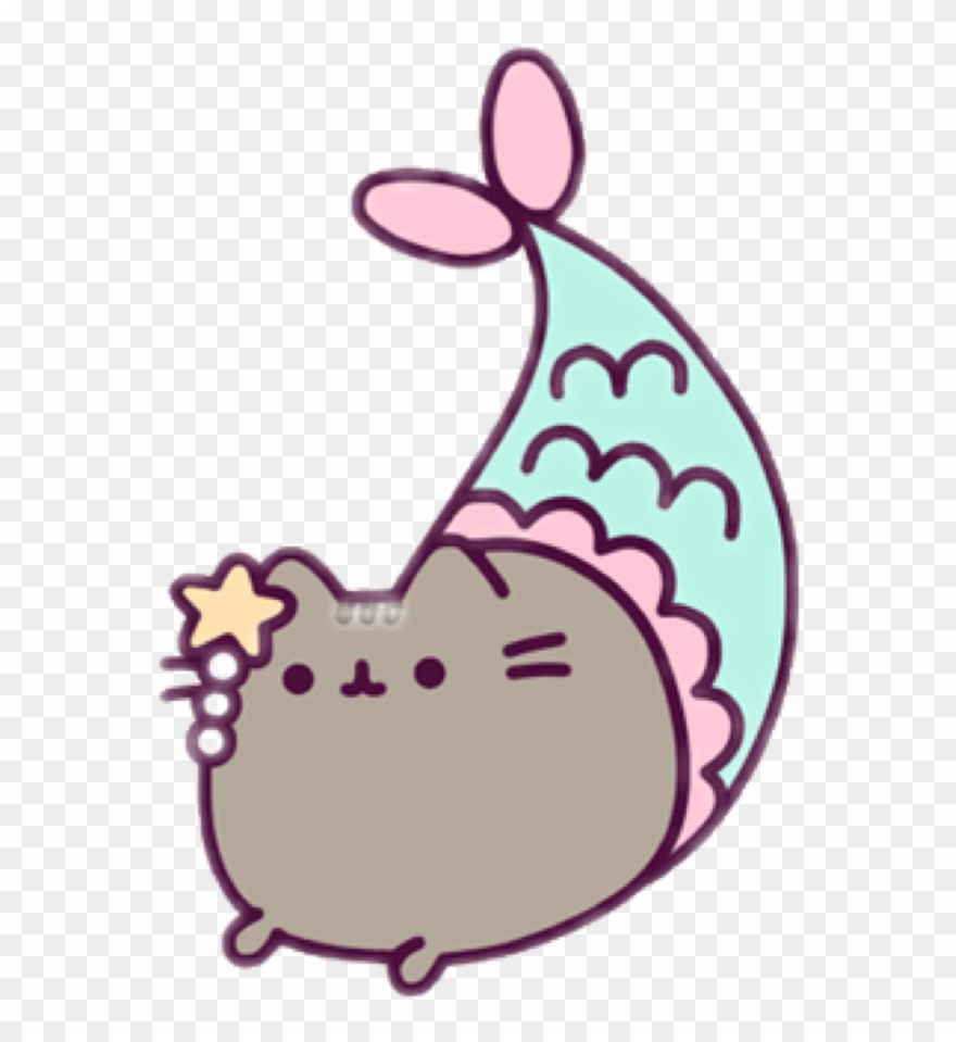 Cat mermaid clipart image royalty free library Report Abuse - Mermaid Pusheen Coloring Pages Clipart (#576552 ... image royalty free library