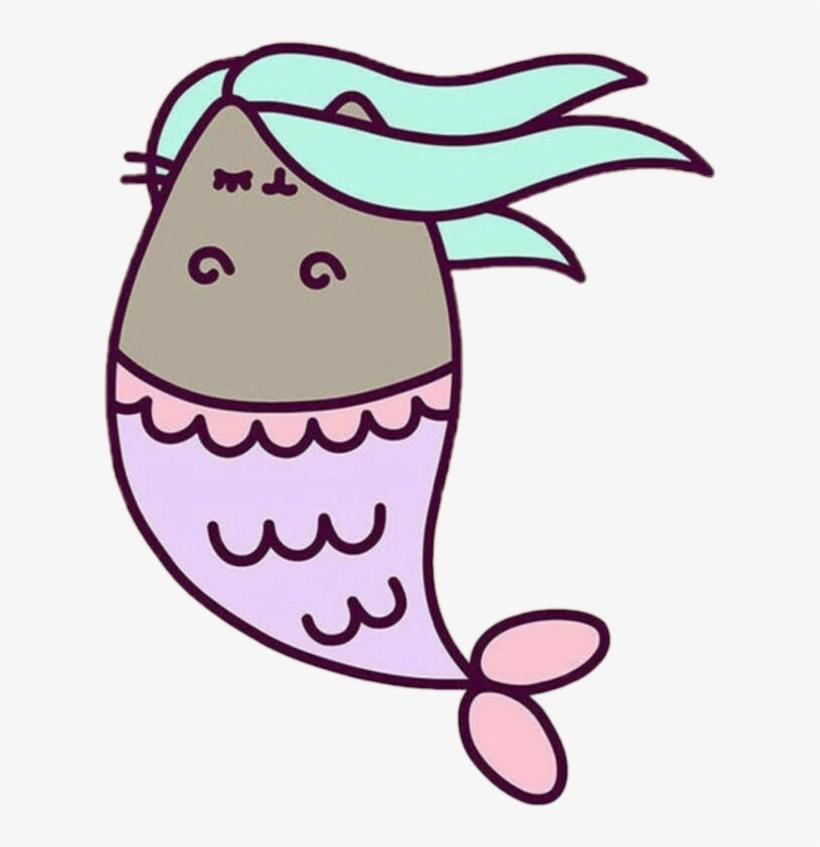 Cat mermaid clipart svg royalty free stock Pusheen Pusheencat Cat Kitty Animal Adorable Mermaid - Pusheen ... svg royalty free stock