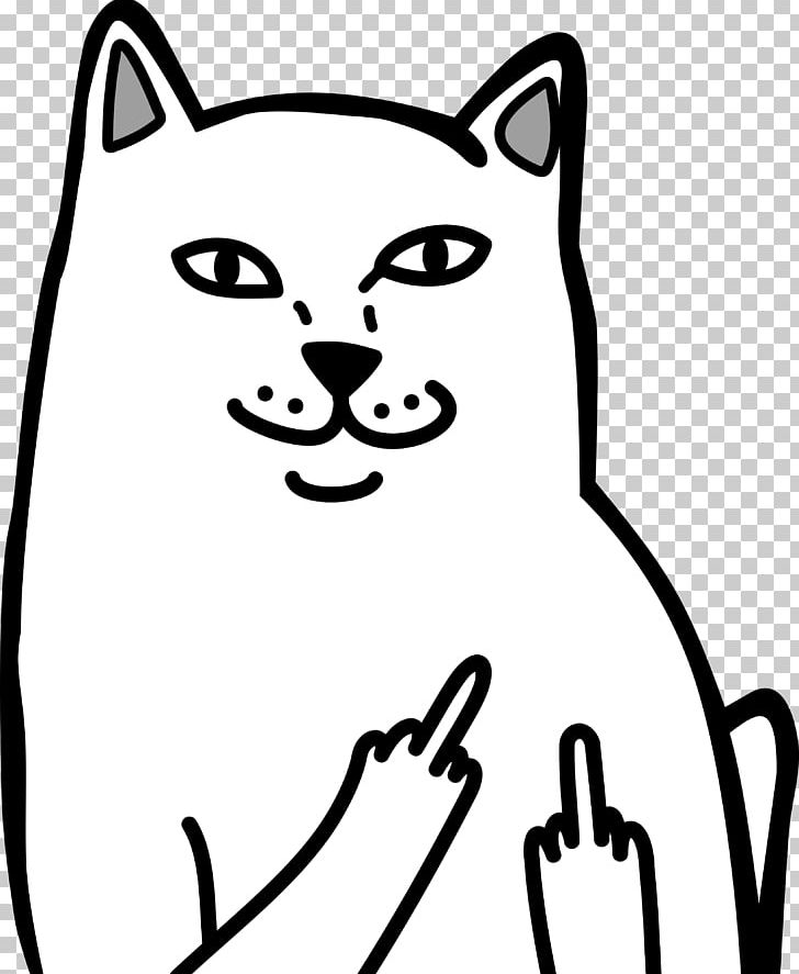 Cat middle finger clipart image freeuse download Cat Middle Finger The Finger T-shirt PNG, Clipart, Animals, Artwork ... image freeuse download