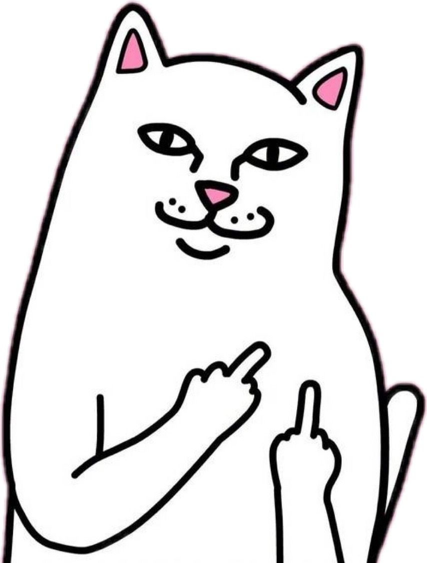 Cat middle finger clipart clipart royalty free stock Middle Finger Drawing | Free download best Middle Finger Drawing on ... clipart royalty free stock