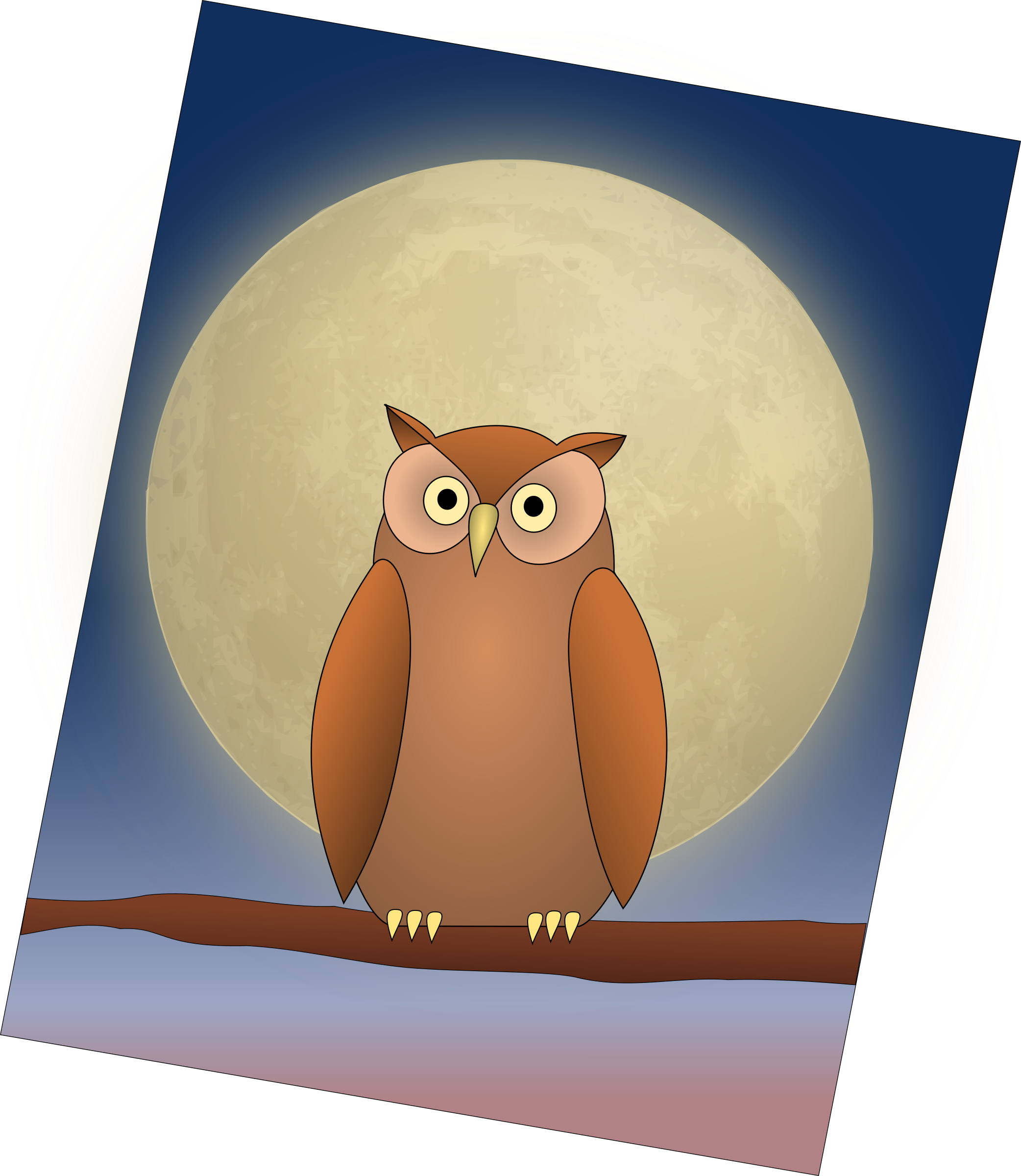 Cat moon clipart svg free Clipart - The Owl and The Moon svg free