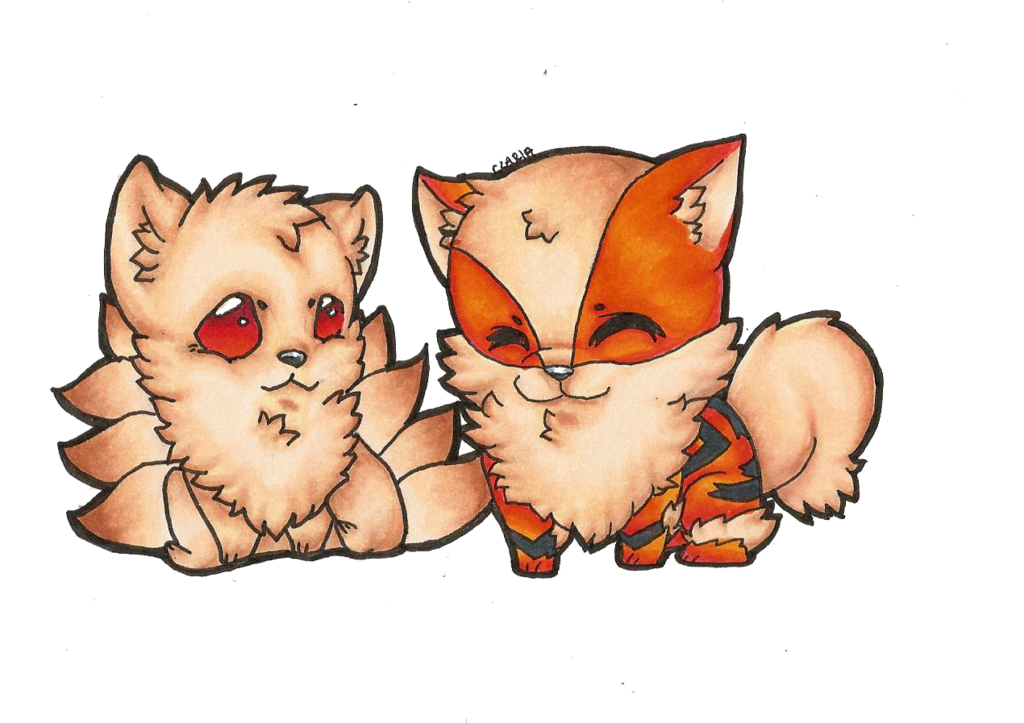 Cat o nine tails clipart clip art royalty free download Arcanine and Ninetails by czaria on DeviantArt clip art royalty free download