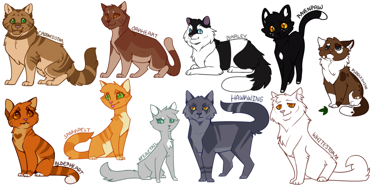 Cat o nine tails clipart banner freeuse Heyyooooo Look at that, even more Warrior cats designed, drawn, and ... banner freeuse