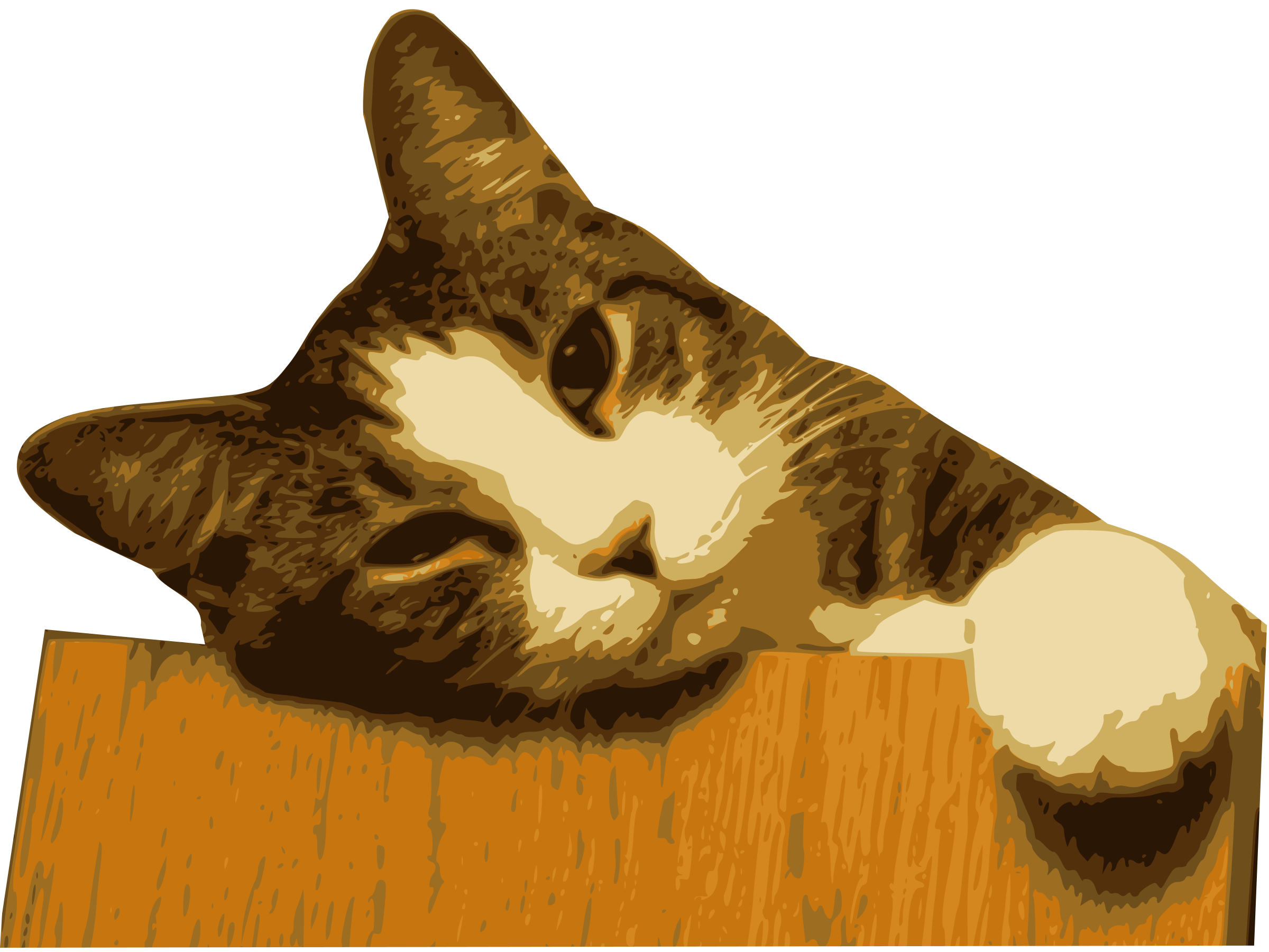 Cat on the table clipart graphic library library Clipart - Relaxed cat (bg removed) graphic library library