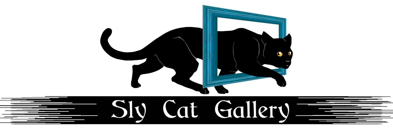 Cat peeks over edge clipart jpg black and white stock Gallery Events/ Local Events — Sly Cat Gallery jpg black and white stock