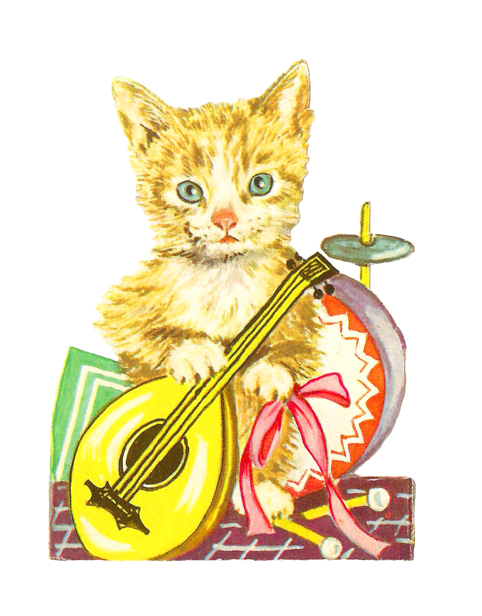 Cat on welcome mat clipart vector download Antique Images: Free Animal Graphic: Antique Cat Clip Art Victorian ... vector download