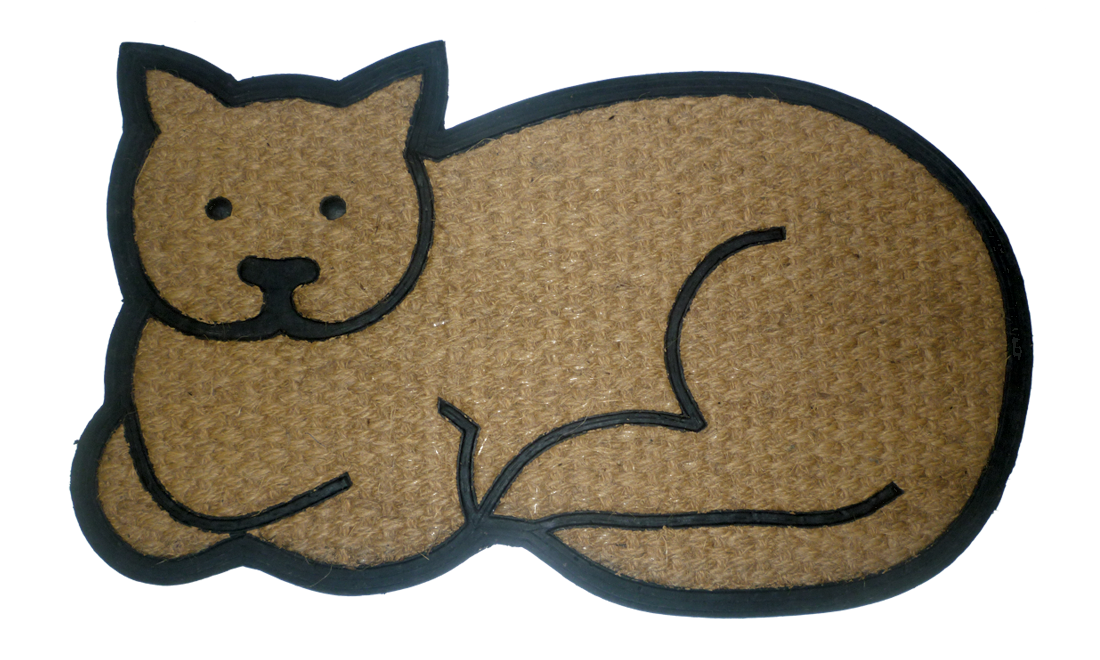 Cat on welcome mat clipart jpg royalty free download Funny welcome mats and door mats from Geo Crafts Inc. jpg royalty free download