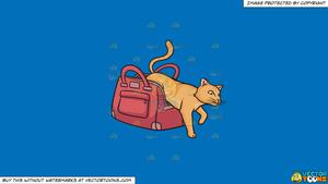 Cat out of the bag clipart png free library Clipart: Let The Cat Out Of The Bag on a Solid Spanish Blue 016Fb9  Background png free library