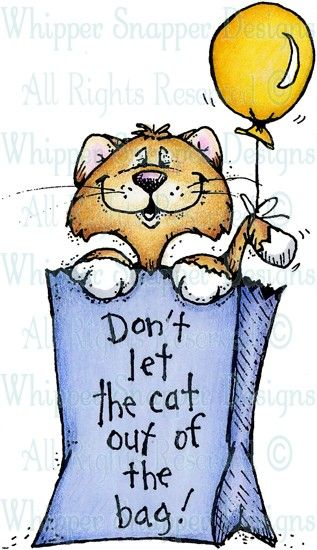 Cat out of the bag clipart vector download Cat Out of the Bag - Cats - Animals - Rubber Stamps - Shop | Rubber ... vector download