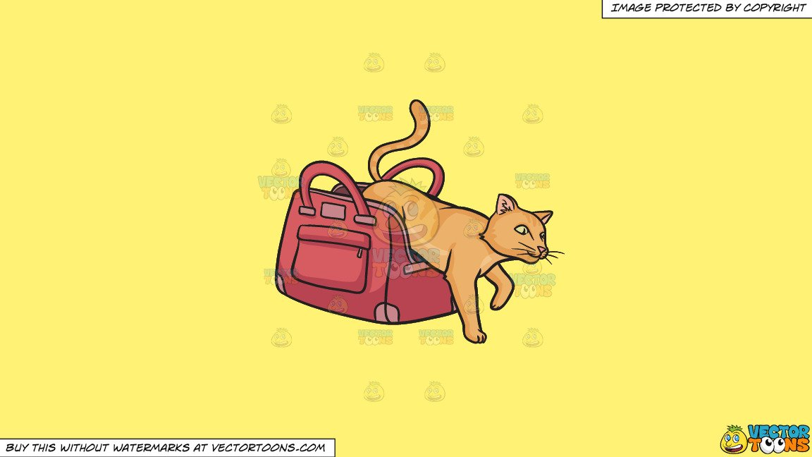 Cat out of the bag clipart banner library Clipart: Let The Cat Out Of The Bag on a Solid Sunny Yellow Fff275  Background banner library