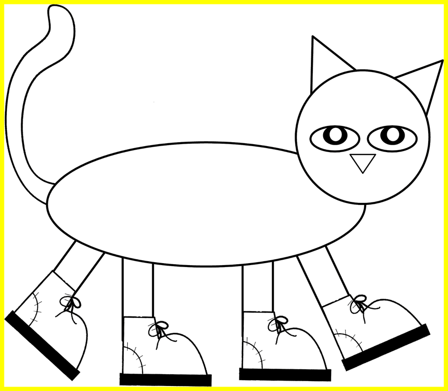 Pete the cat clipart png download Marvelous Pete The Cat Pattern To Color Cut And Assemble Children ... png download