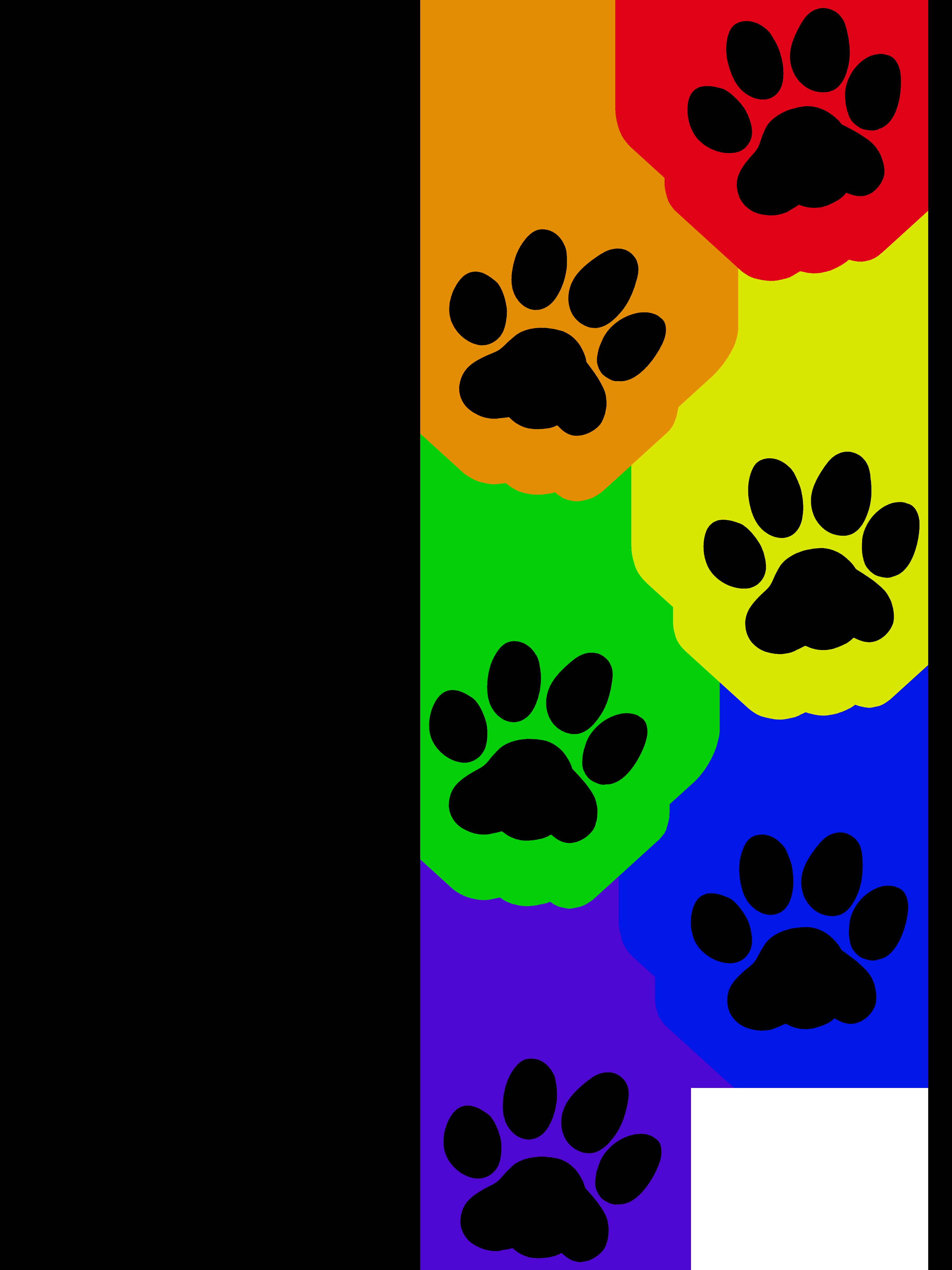 Cat paw clipart jpg free Cat paw print - Rainbow | Artworktee jpg free