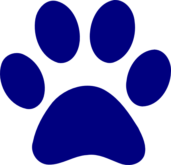 Cat paw clipart navy blue picture free stock Dark Blue Paw Print Clip Art at Clker.com - vector clip art online ... picture free stock