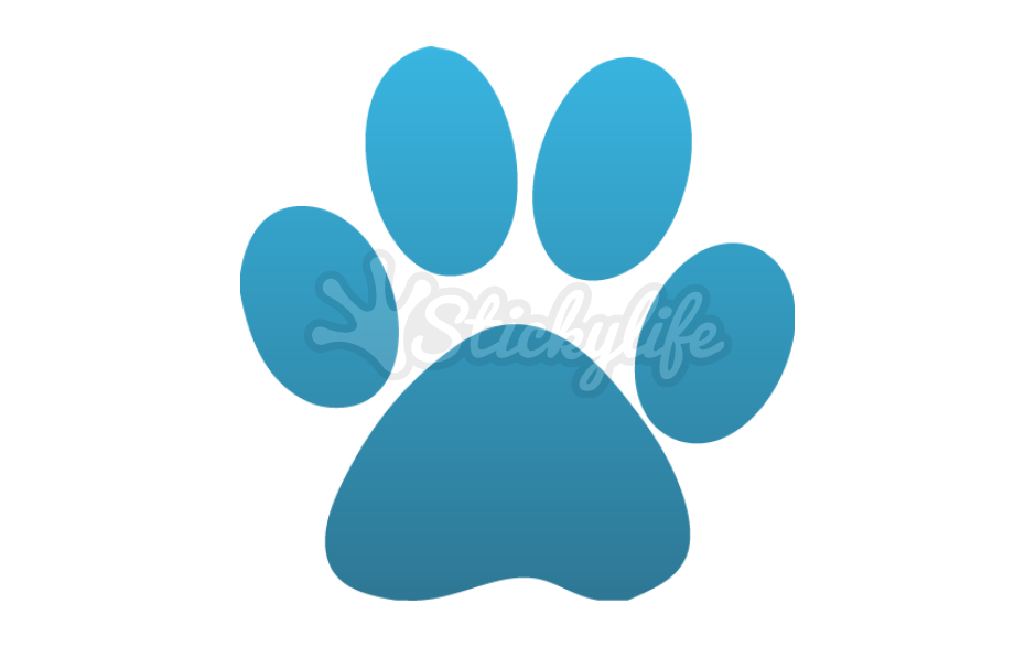 Cat paw clipart navy blue vector transparent Cat Paw Car Magnet - Custom Kitten Magnets vector transparent