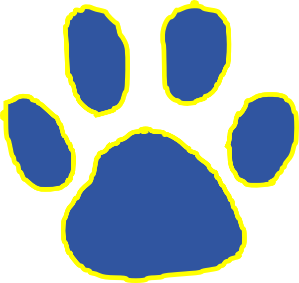 Cat paw clipart navy blue banner free stock Tiger Paw Clip Art at Clker.com - vector clip art online, royalty ... banner free stock