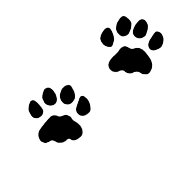 Cat paw prints clipart clipart black and white Paw Prints Clipart clipart black and white