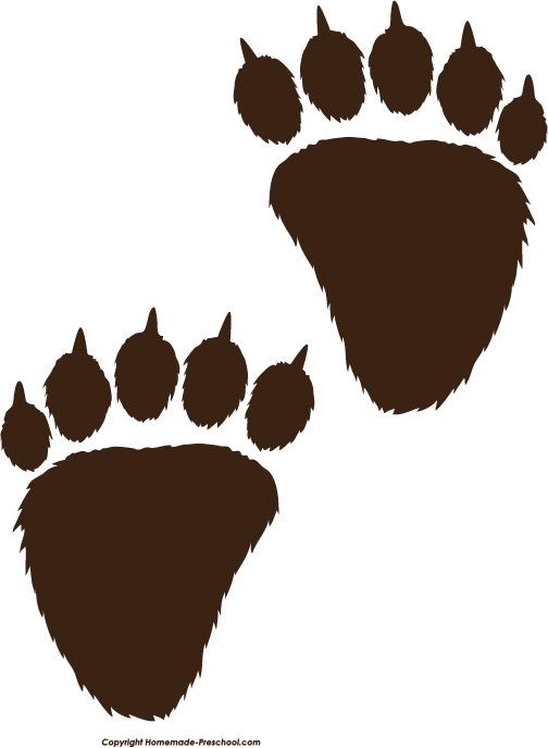 Dog print clipart svg freeuse Free Paw Prints Clipart svg freeuse