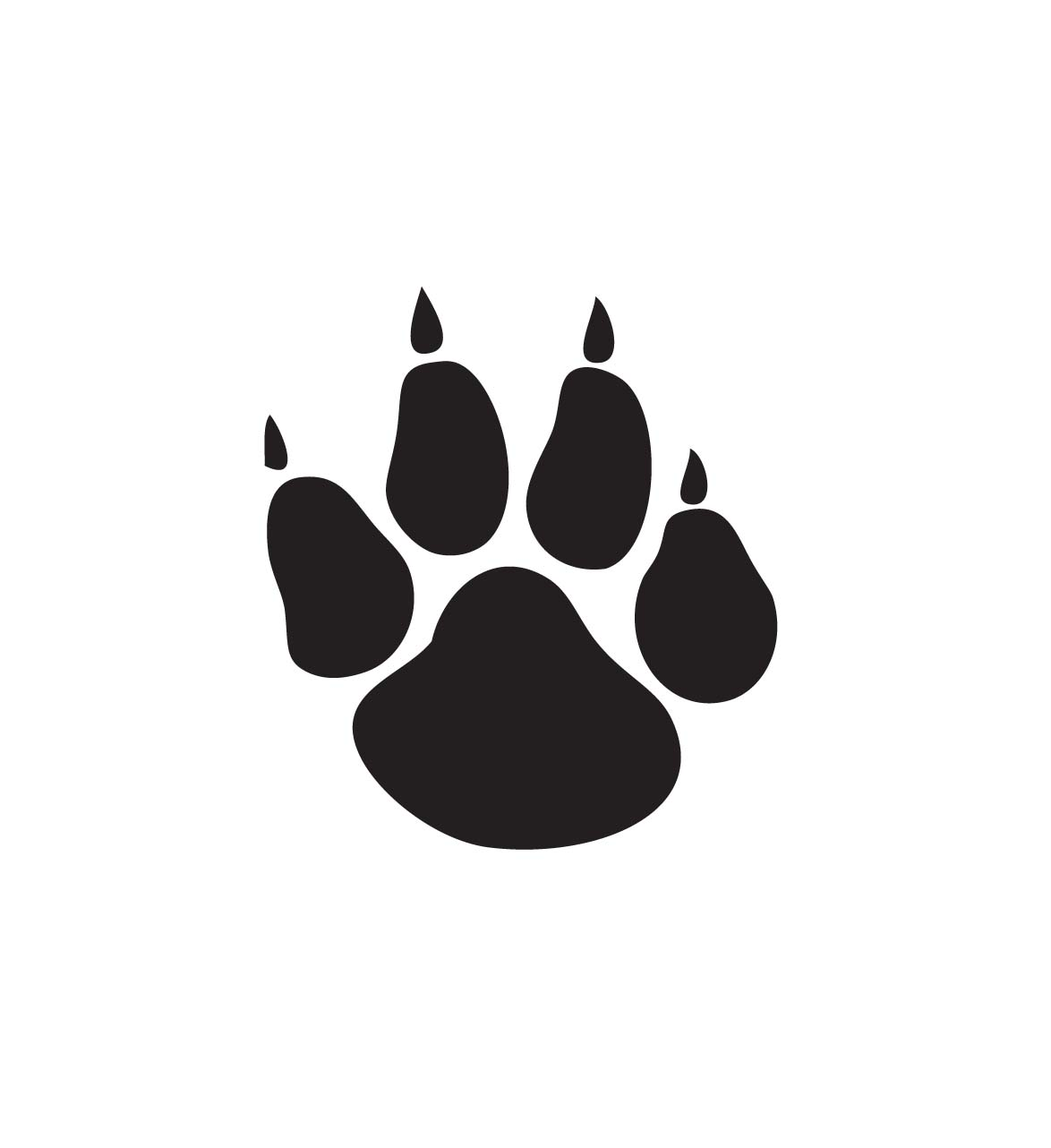 Free bobcat paw print clipart clip art royalty free Cat paw print black and white clipart kid - ClipartBarn clip art royalty free