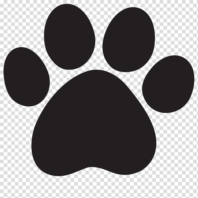 Cat pawprint black clipart jpg black and white library Black paw logo, Lion Cougar Dog Cat , Paw Print transparent ... jpg black and white library