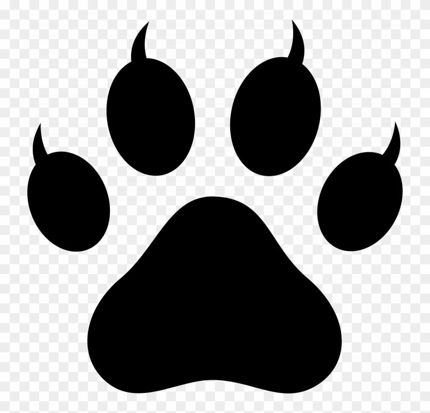 Cat pawprint black clipart clip black and white stock Download Cat Paw Print Clip Art - Cat Paw Png Transparent Png ... clip black and white stock
