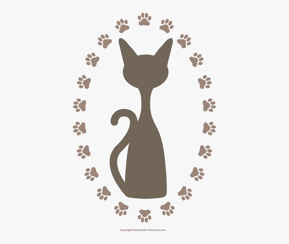 Cat pawprint black clipart image library library Cat Paw Prints Clipart - Cat Paw Print Clip Art Png #148719 - Free ... image library library