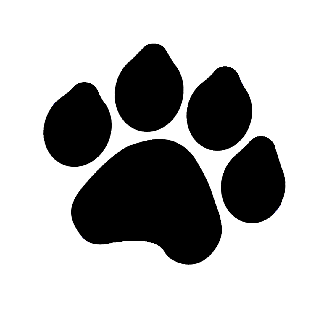 Dog feet clipart graphic black and white library Dog Paw Print Silhouette at GetDrawings.com | Free for personal use ... graphic black and white library
