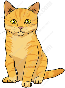 Cat pics clipart graphic black and white library Orange Tabby Cat Clipart | Free Images at Clker.com - vector clip ... graphic black and white library