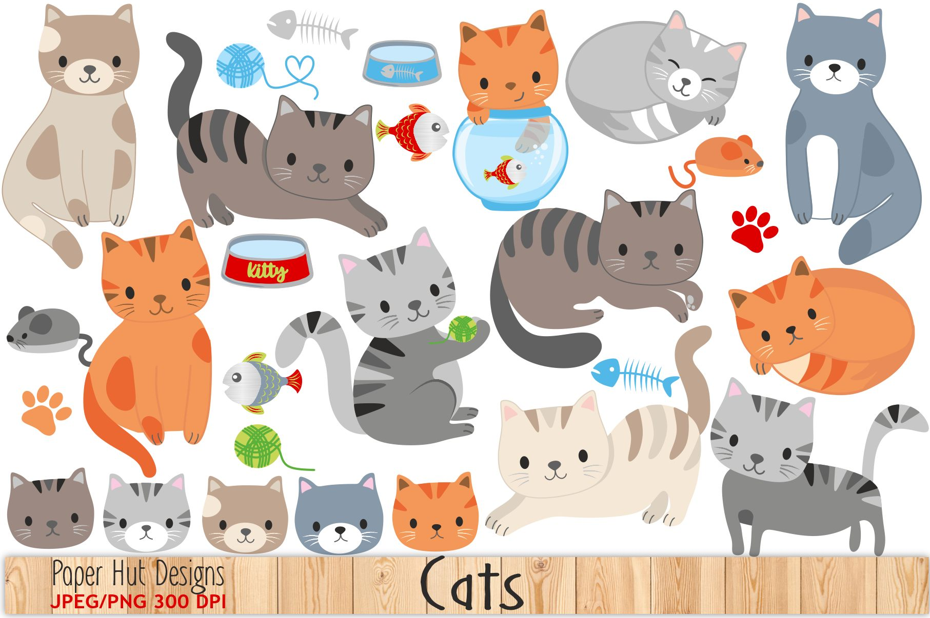 Cat pics clipart picture black and white Cute Cat Clipart picture black and white