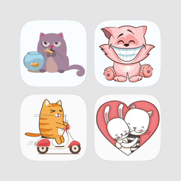 Cat purring clipart clip royalty free download Cat Stickers - Grumpy, Angry, Cute, Cuddly, Fluffy Bundle on the App ... clip royalty free download