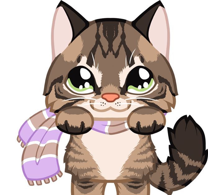 Cat purring clipart graphic library library Kitty Cafe | PeachSeas.com graphic library library