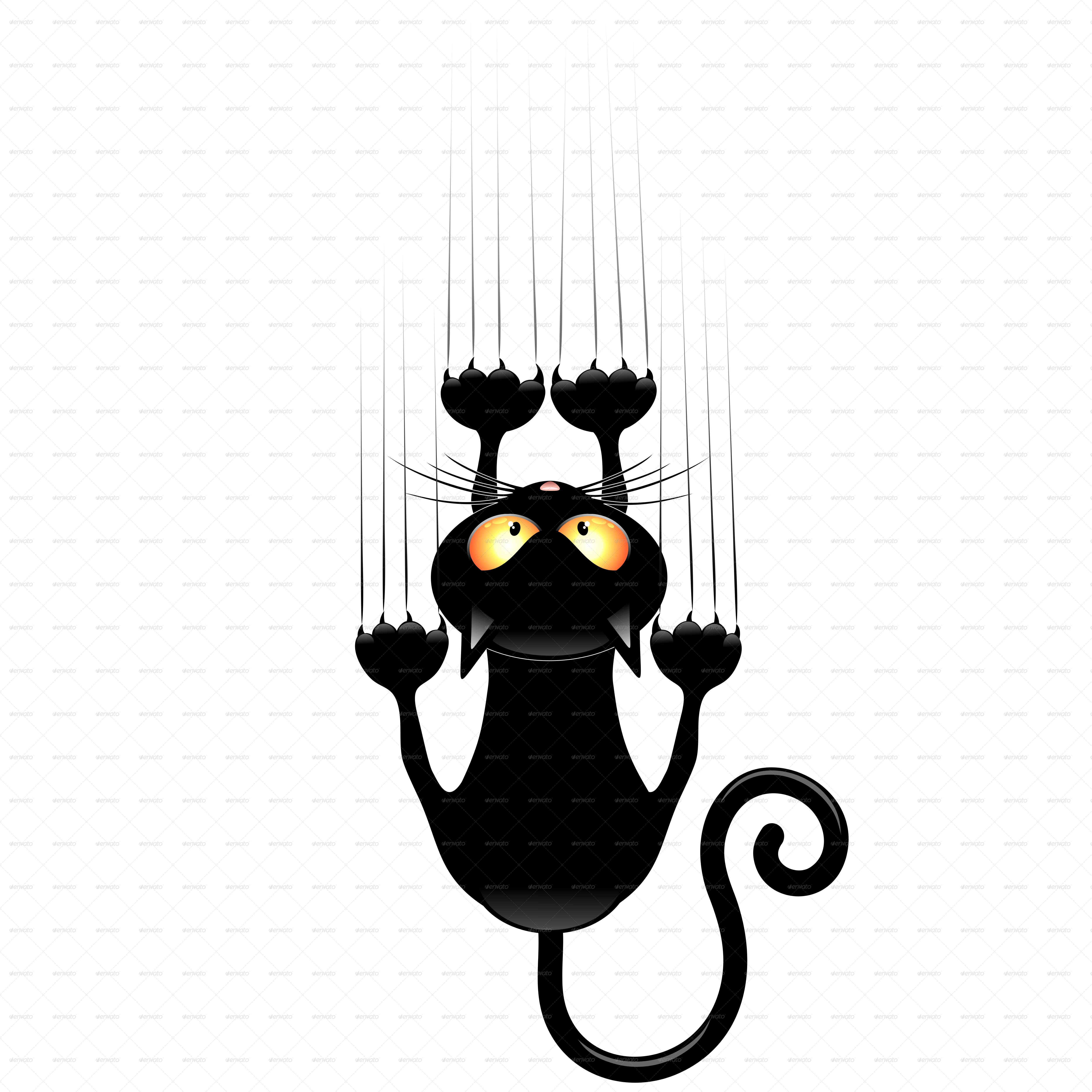 Cat scratching clipart black and white Black Cat Cartoons Group (57+) black and white