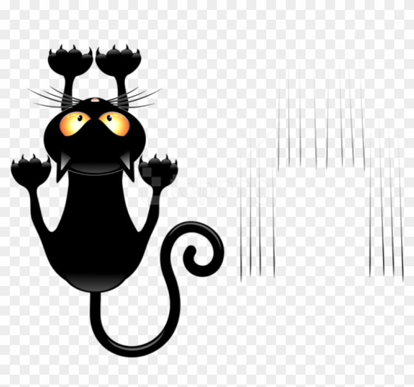 Free Png Download Black Cat And Scratches Transparent - Cat ... clip royalty free