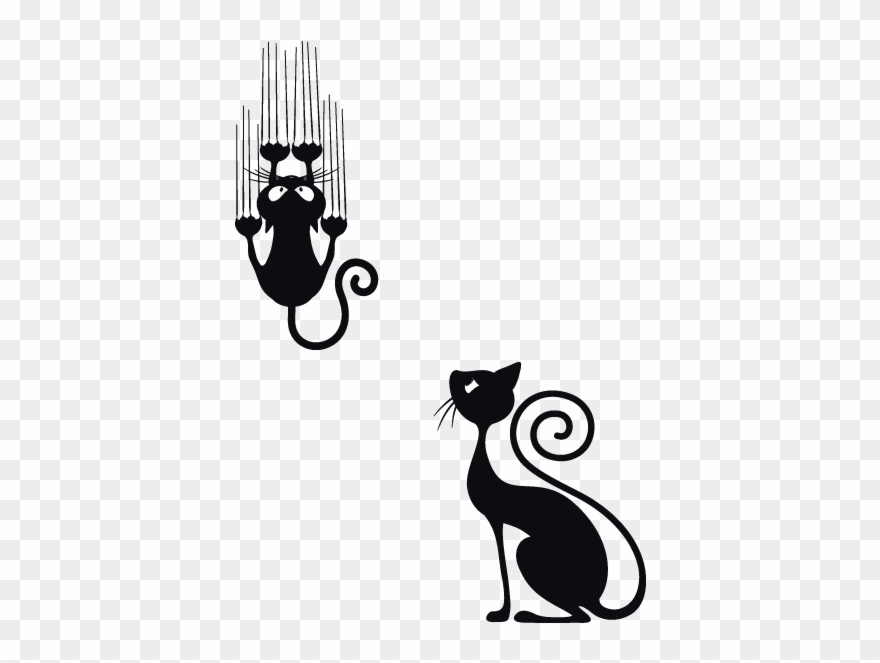 Black Cat Clipart Cat Scratch - Black Cats Style - Png Download ... graphic library stock