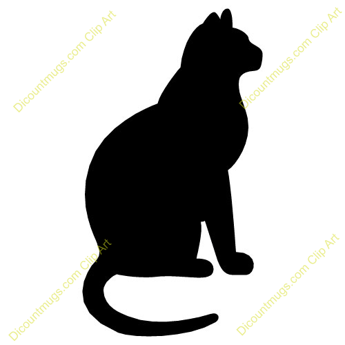 Cat sitting clipart 5 » Clipart Portal library