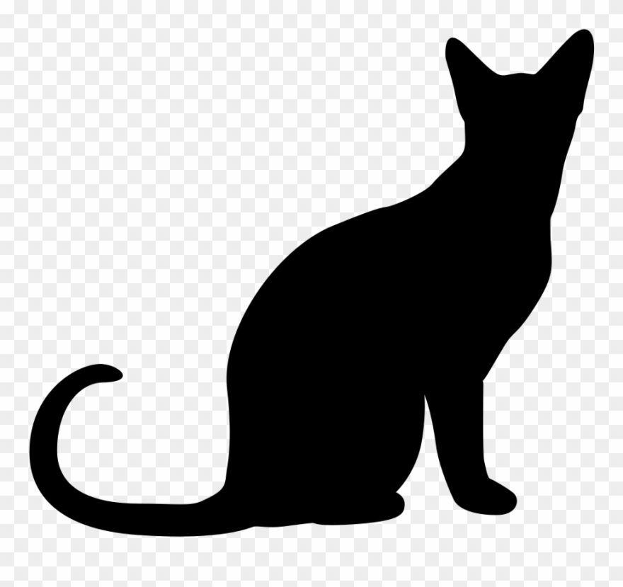 Clip Art Cats Vector Persian Cat - Sitting Cat Silhouette Png ... clip art royalty free library