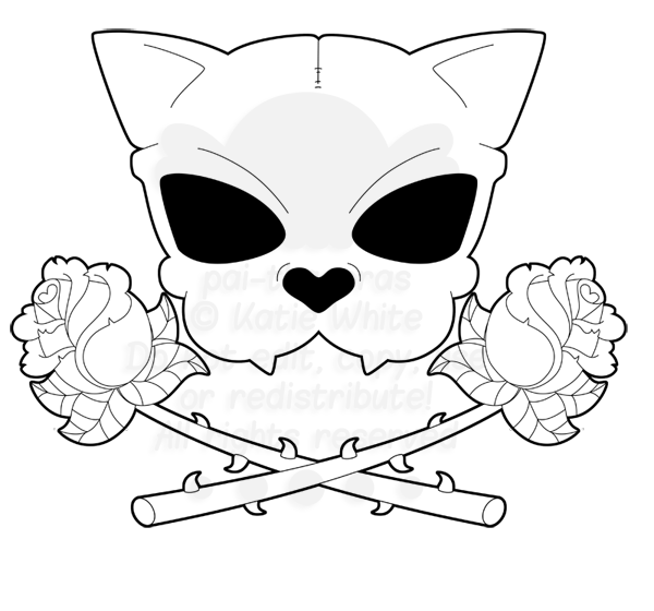 Cat skull clipart png royalty free download Cat Skull Drawing at GetDrawings.com | Free for personal use Cat ... png royalty free download