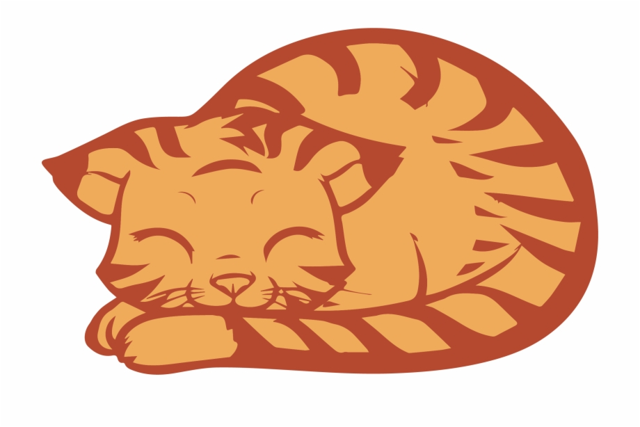 Download Sleeping Cat Clipart Png - Sleeping Cat Cartoon Drawing ... graphic library