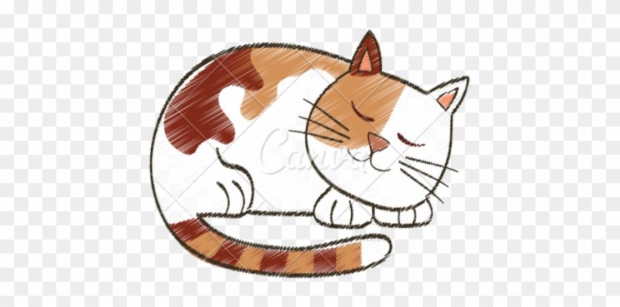 Drawn Kitten Cute Sleeping Cat Clipart (#2966369) - PinClipart clipart freeuse stock