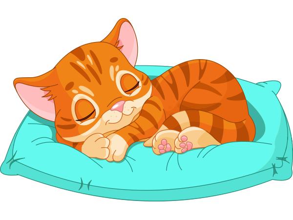 Sleepy Cat | Animal Icons | Sleeping kitten, Cat clipart, Kitten cartoon png free library