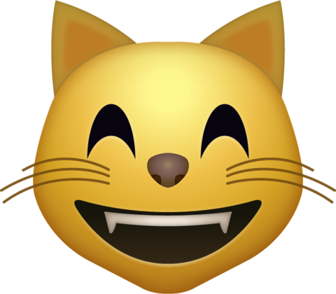 Cat smiley face clipart banner library Pin by Emoji Island on Free High Resolution Emoji Icons | Cat emoji ... banner library