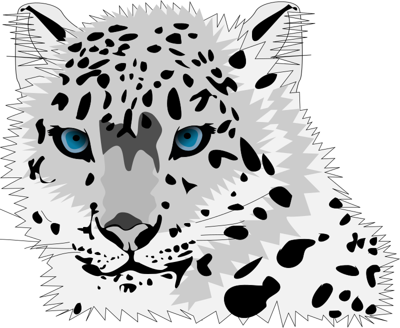 Cat snow clipart png freeuse download Clipart - snow leopard png freeuse download