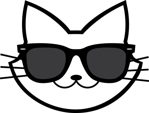 Cat sunglasses clipart clip free download Cool Cats Logo by Brittany Ball, via Behance | Cat tattoos | Cat ... clip free download