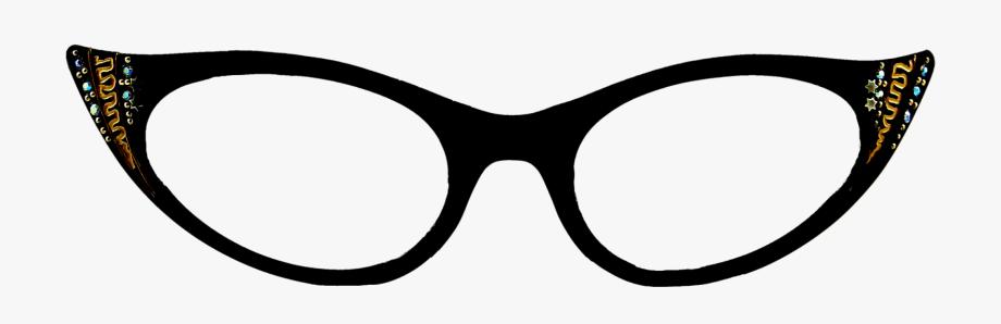 Cat sunglasses clipart image freeuse stock Vintage Eyeglasses Frames Eyewear Sunglasses S In - Transparent Cat ... image freeuse stock