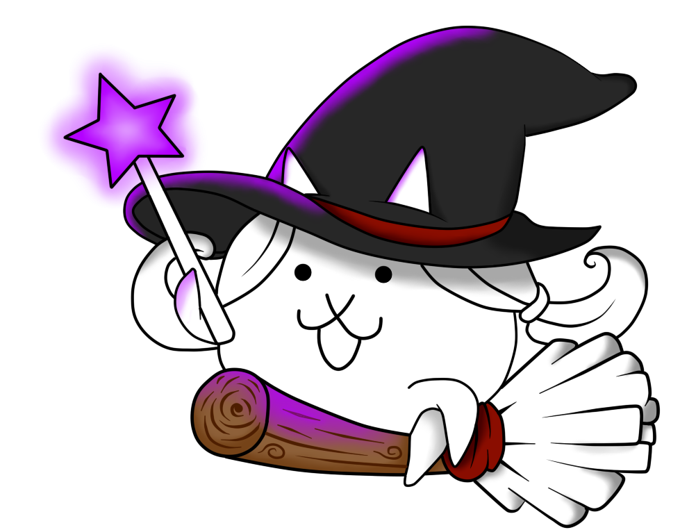 Cat surfer clipart jpg royalty free The Battle Cats - Witch Cat by Aauroz on DeviantArt jpg royalty free