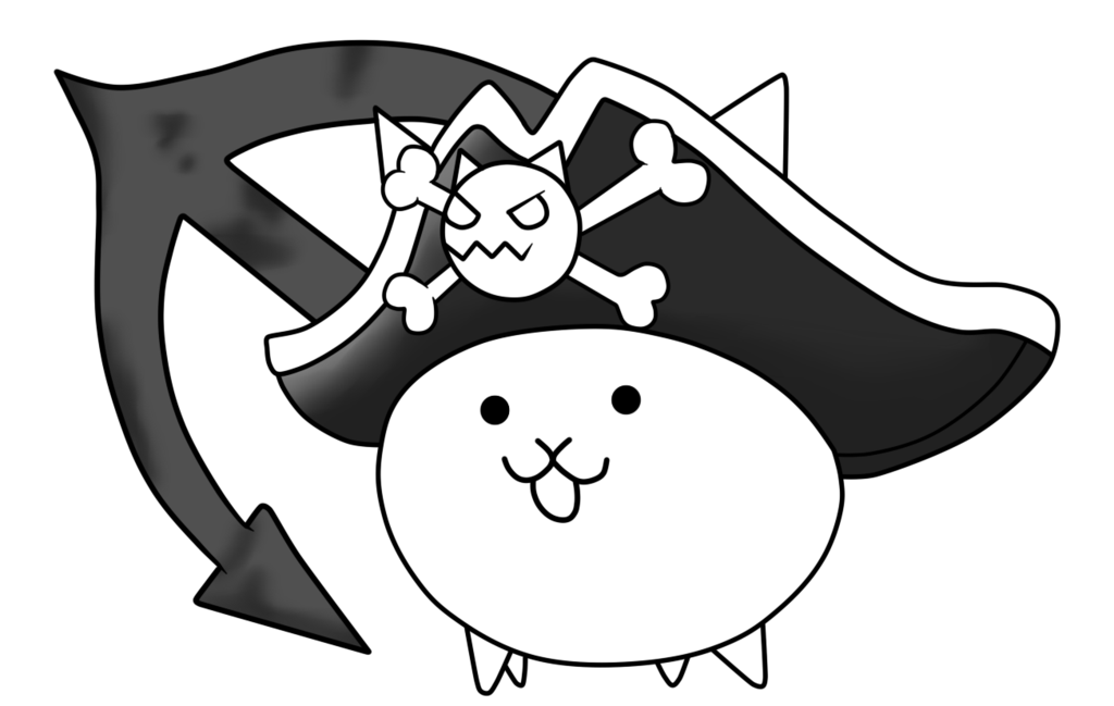 Cat surfer clipart clip black and white library Pirate Cat-The Battle Cats by Aauroz on DeviantArt clip black and white library
