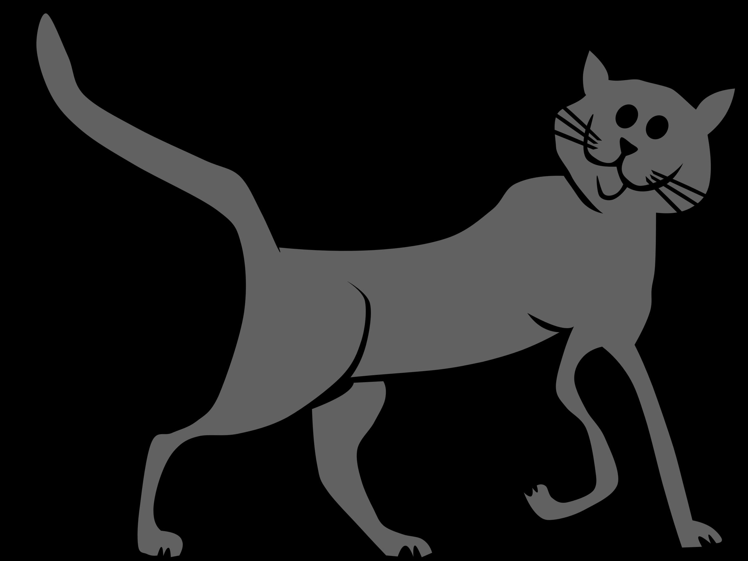 Clipart cat tail svg transparent stock Clipart - Cartoon Cat svg transparent stock